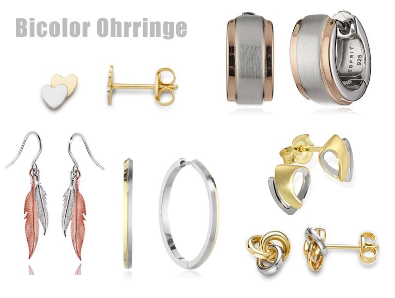 Ohrringe Bicolor