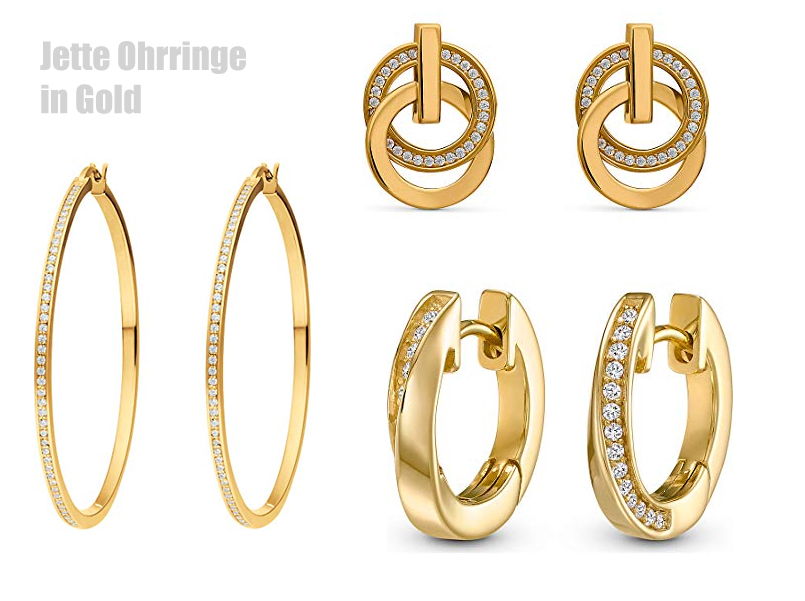 Jette Ohrringe in Gold