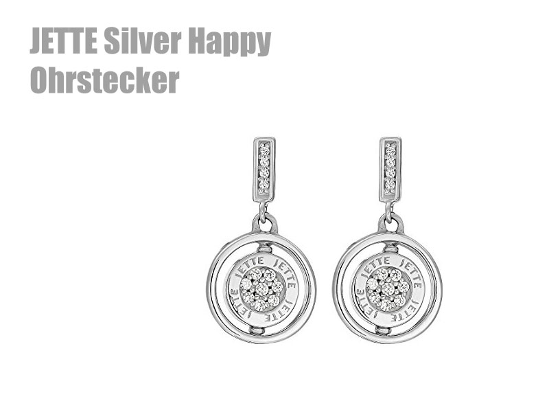 Jette Silver Ohrstecker Happy
