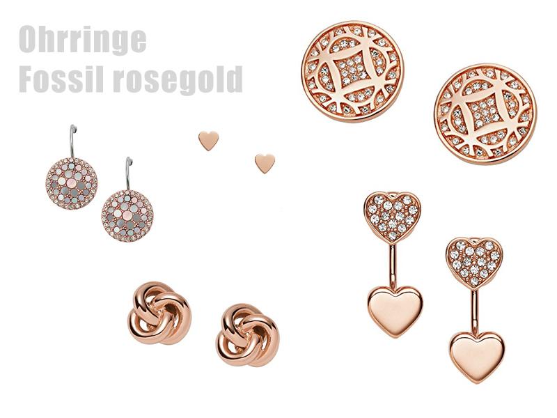 Ohrringe Fossil Rosegold