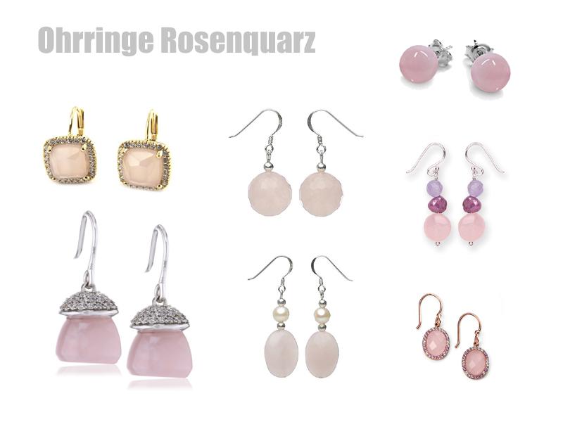 Ohrringe Rosenquarz