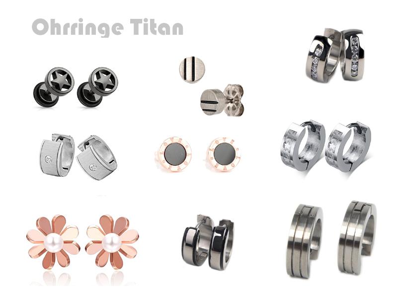 Ohrringe Titan